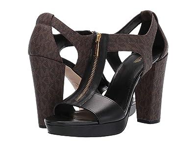 MICHAEL Michael Kors Berkley Sandal (Brown/Black) Women