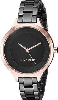 Nine West NW/2225 Reloj de pulsera con detalles en tono oro rosa para mujer