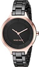 Nine West Women's NW/2225 Rose Gold-Tone Accented Bracelet Watch
