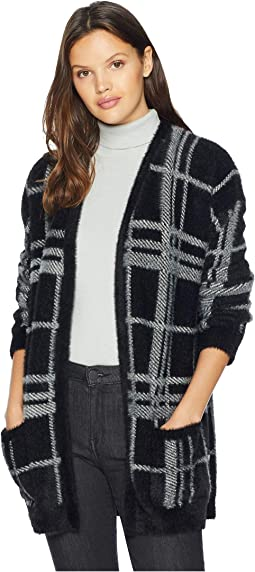 Cozy Plaid Long Cardigan