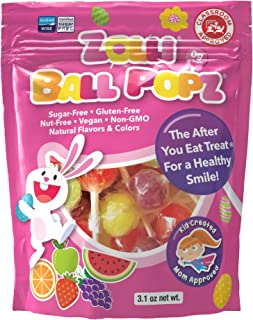 Zollipops Zolli Ball Popz Lollipops Clean Teeth, Easter, 3.1oz