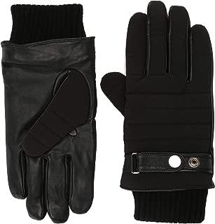 A|X Armani Exchange Men's Rib Cuff Leather Glove