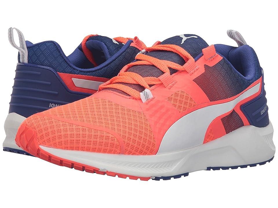 0abce58ba2fc PUMA Ignite XT V2 (Red Blast Puma White Royal Blue) Women s Running Shoes