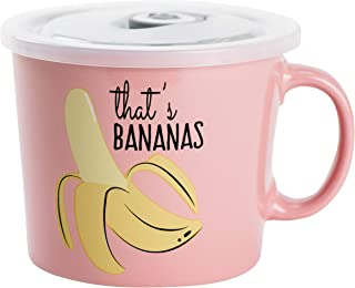Boston Warehouse 12342 Souper Mug Food Storage Container, 24 Ounce, Bananas