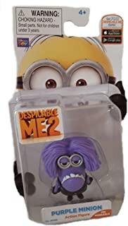 Thinkway Toys Despicable Me 2 Movie Two Eyed Purple Minion Figure