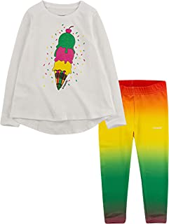 Crayola Children's Apparel Girls' Long Sleeve T-Shirt and Stretch Leggings 2-Piece Outfit Set