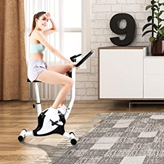 Murtisol Upright Exercise Bike Stationary Cardio Cycling Equipment Teen Adult Home & Office Black