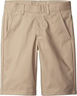 Flat Front Twill Shorts (Big Kids)