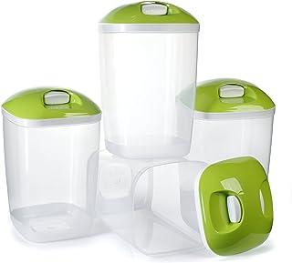 Ensemble sans BPA conteneurs en plastique pack de 4 riz pâtes stockage étanche - 2Lts