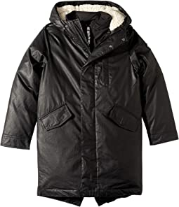 Extra Soft Lined Zip and Button Up Himalaya Down Coat with Hood (Toddler/Little Kids/Big Kids)