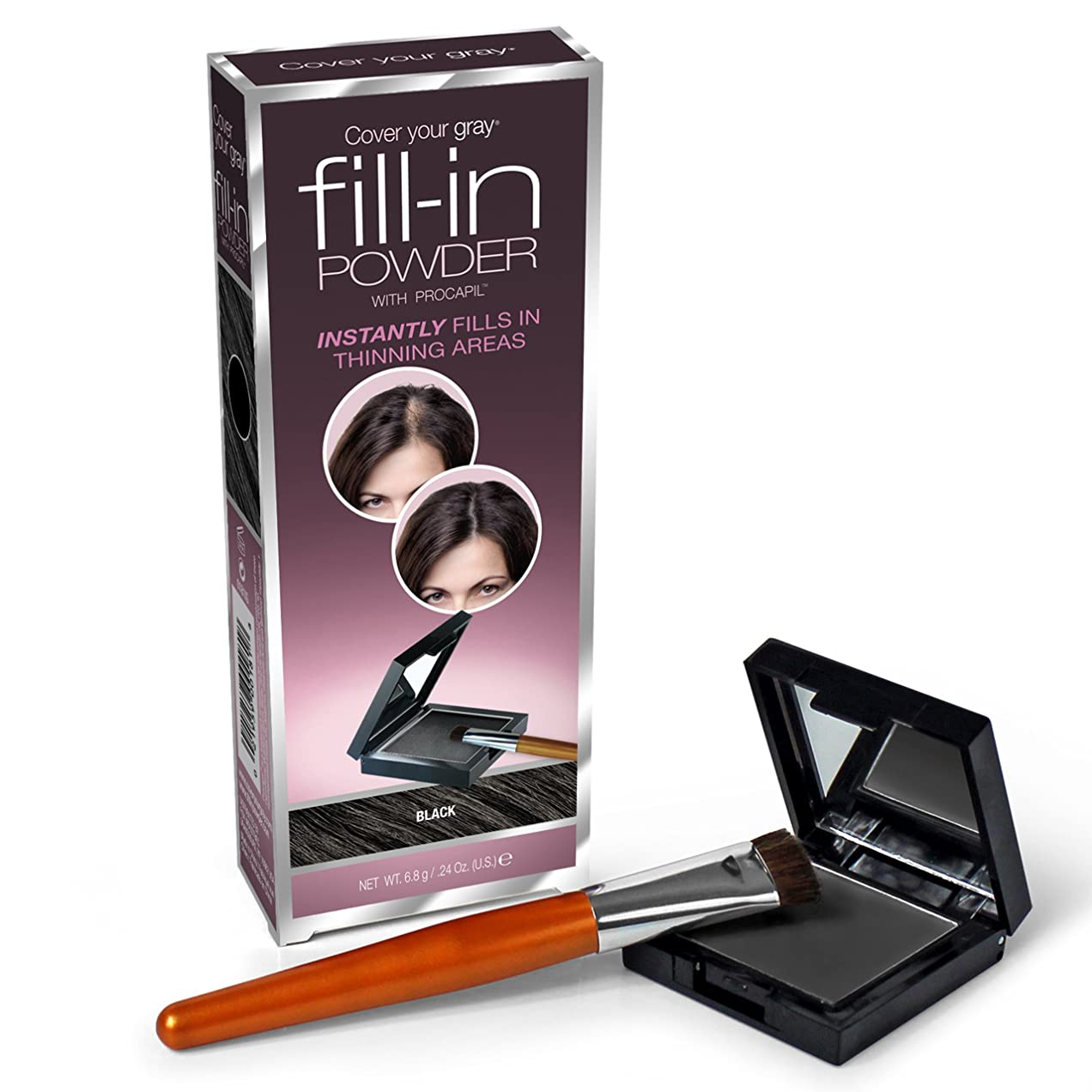アリス熟読プライバシーFill In Powder for Thinning Hair Black (並行輸入品)