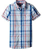 Tommy Hilfiger Kids - Corbin Short Sleeve Plaid Shirt (Toddler/Little Kids)