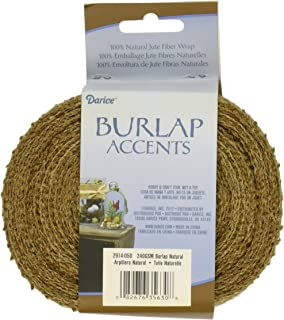 DARICE 2914-050 240gm Burlap Ribbon, 2.5-Inch by 10-Yard, Natural