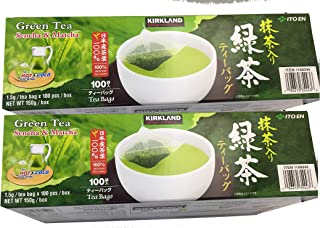 Kirkland Signature Ito En Matcha Blend (Green Tea), 100% Japanese Green Tea Leaves, Box of 100 Tea Bags (Pack of 2 Boxes)