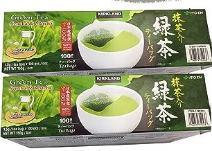 Kirkland Signature Ito En Matcha Blend (Green Tea), 100% Japanese Green Tea Leaves, Box of 100 Tea Bags (Pack of 2 Boxes)