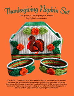 Thanksgiving Napkin Set: Plastic Canvas Pattern