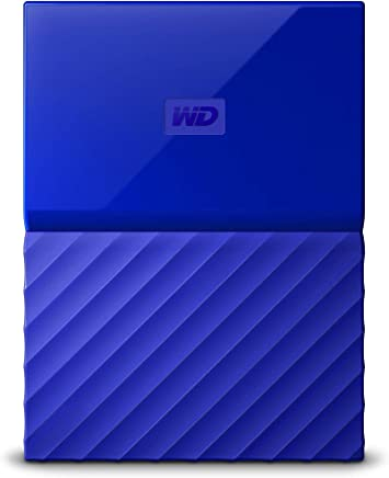 西部数据(WD)New My Passport 4TB 2.5英寸 USB3.0时尚炫彩 移动硬盘 灵动蓝 时尚炫彩 WDBYFT0040BBL