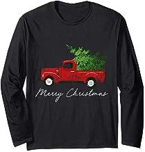 Vintage Wagon Christmas Long Sleeve Shirt - Tree on Truck