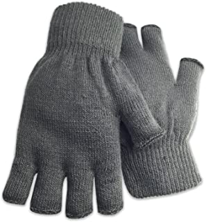 Winter Fingerless Gloves Warm Half Finger Knitted -Unisex Standard Size Assorted Colors
