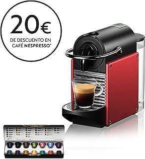 Nespresso De'Longhi Pixie EN124.R Cafetera monodosis cápsulas, 19 Bares, depósito Agua 0.7 L, Apagado automático, Rojo