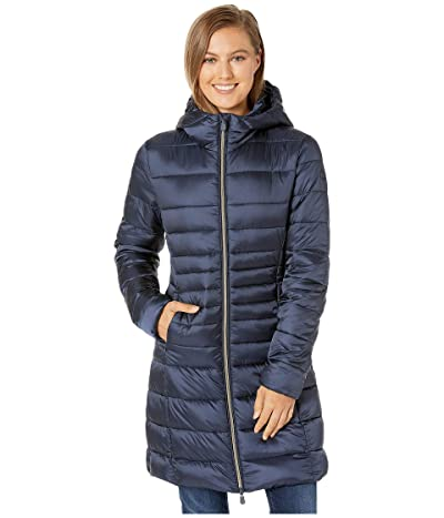 Save the Duck Iris 9 Hooded Puffer Coat (Blue/Black) Women