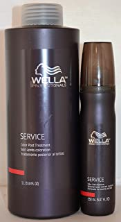 Wella Service Color Post Treatment (33.8oz) & Color Stain Remover (5.07oz) Set
