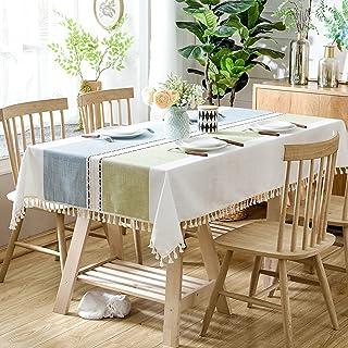 LTLGHY Nappe De Table Rectangulaire, Nappe Impermeable Antitache Lavable Entretien Facile Linge De Table pour Salle À Mang...