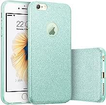 iPhone 6s Plus Case, Imikoko™ Fashion Luxury Protective Hybrid Beauty Crystal Rhinestone Sparkle Glitter Hard Diamond Case Cover for iPhone 6s/6 Plus (Bling Rose Gold) (Green)