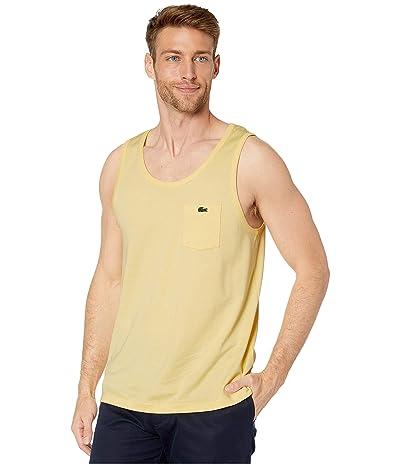 Lacoste Tank Heavy Jersey Solid T-Shirt (Napolitan Yellow) Men