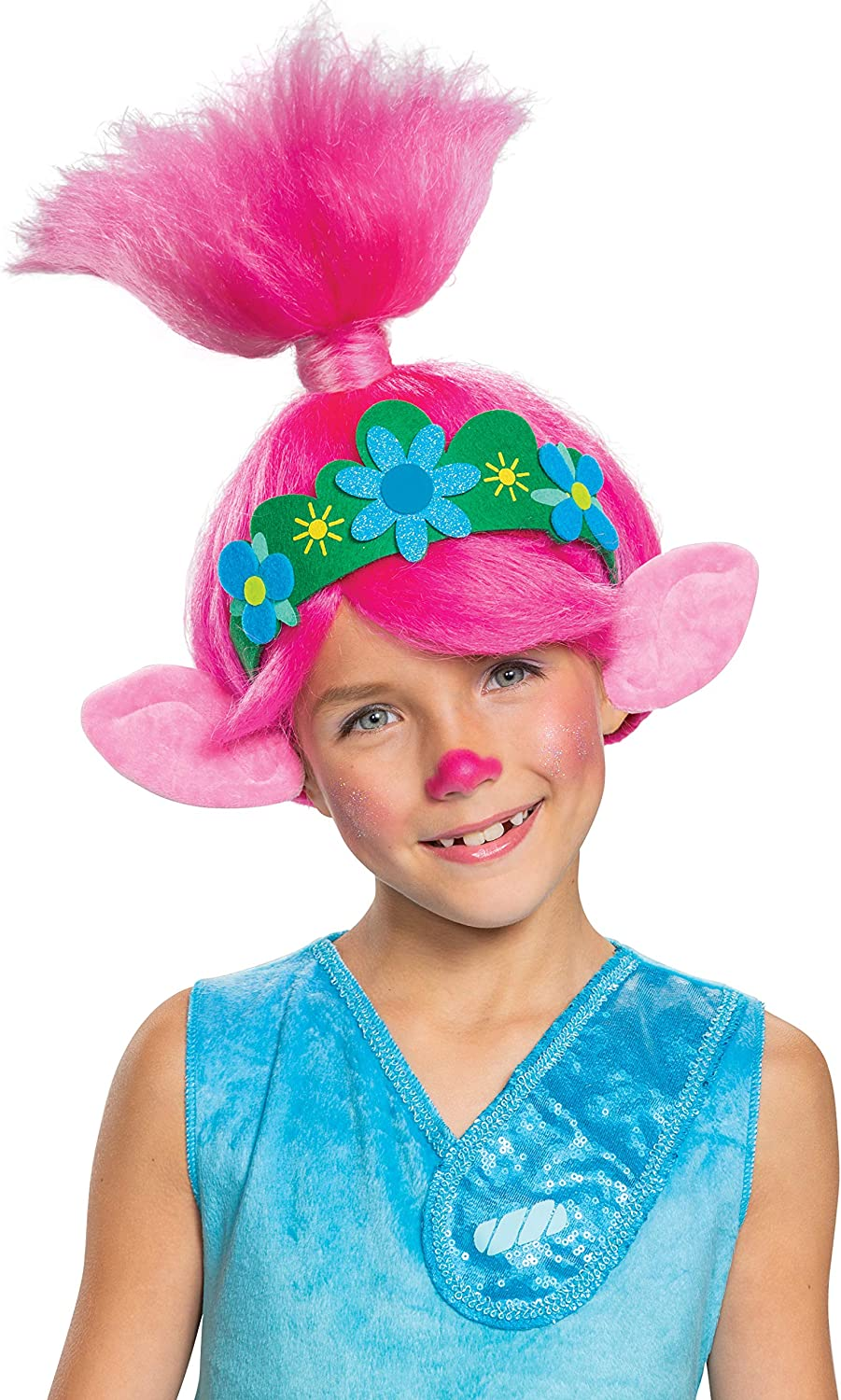 Disguise Trolls World Tour Poppy Wig, Trolls World Tour Child Costume Accessory, Pink Kids Size Movie Character Dress Up Wigs : Clothing, Shoes & Jewelry