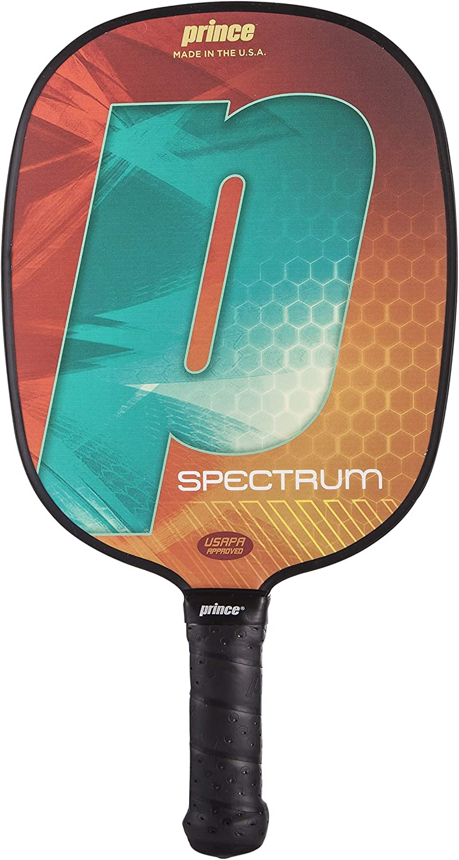 Prince Pickleball   Spectrum Pickleball Paddle   Polymer Honeycomb Core   Textured Fiberglass Composite Face