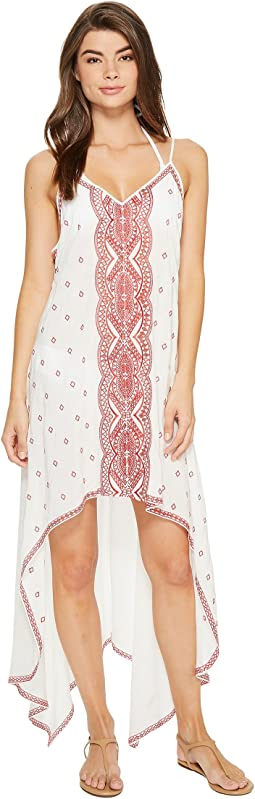 Nicole Miller La Plage By Nicole Miller Embroidered Beach Scarf Dress/Cover-Up