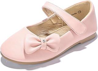 PANDANINJIA Toddler Little Kids Camila Princess Uniform School Ballet  Flower Mary Jane Girls Flats Dress 8ee364a36b46