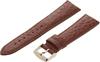 Hadley-Roma Men`s MS2010RA-180 18-mm Black Genuine Alligator Leather Watch Strap