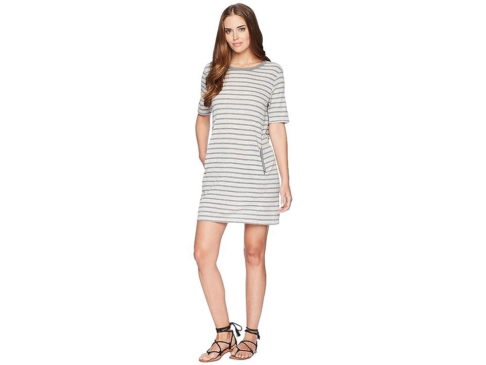 Alternative Eco Jersey Pocket T-Shirt Dress (Eco Grey Riviera Stripe) Women