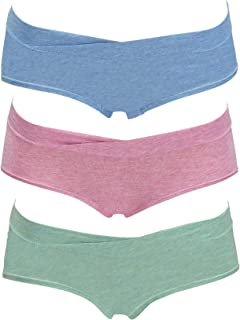Kindred Bravely Under The Bump Heather Hipster Maternity/Postpartum Underwear 3 Pack