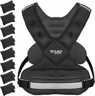 Aduro Sport Adjustable Weighted Vest Workout Equipment, 4-10lbs/11-20lbs/20-32lbs/26-46lbs Body Weight Vest for Men, Women, Kids