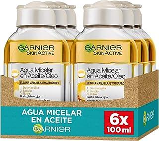 Garnier Skin Active Agua Micelar en Aceite Elimina Maquillaje Resistente Waterproof y de Larga Duración Nutre y Desmaq...