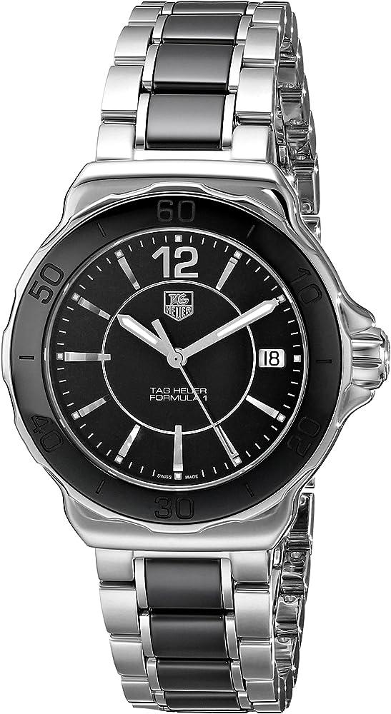 Tag heuer, orologio da donna, in acciaio inossidabile e ceramica THWAH1210BA0859
