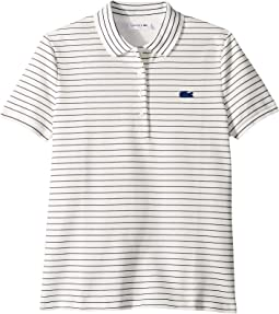 Short Sleeve Slim Fit Stretch Striped Polo