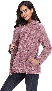 f436f7d701a kefirlily Mujer Abrigo de Invierno Otoño Abrigos de Piel de Fleece Abrigo  Esponjoso Cálido Chaquetas
