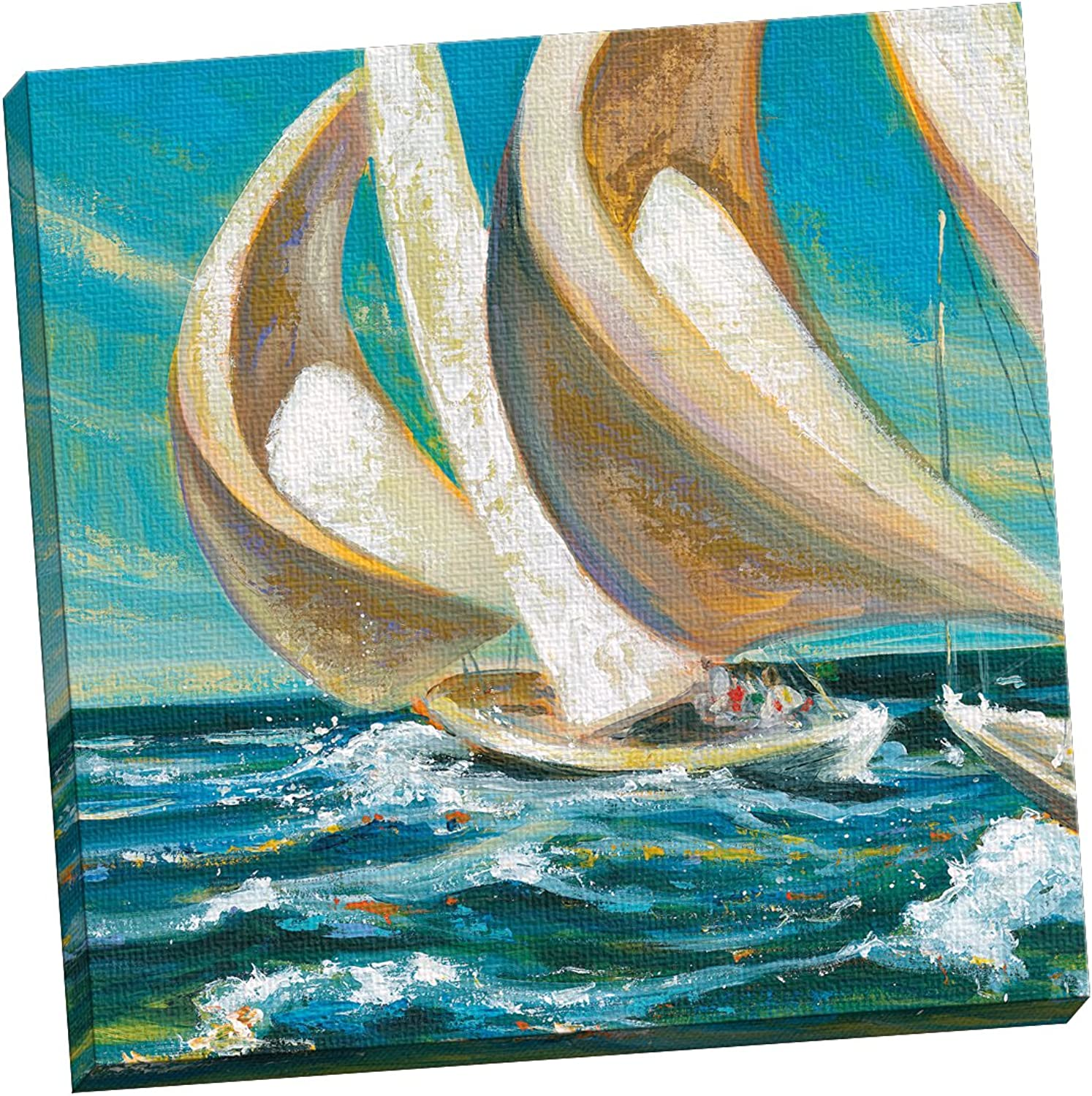 Portfolio Canvas Décor Large Wall Art, Yacht Club Four by Dupre 24x24, Framed and Stretched, Ready to Hang