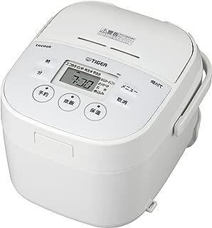 TIGER虎牌 麦孔 电饭煲 3合 白色 带食谱 tacook 现做 蒸煮 保温锅 JBU-A551-W Tiger 需配变压器