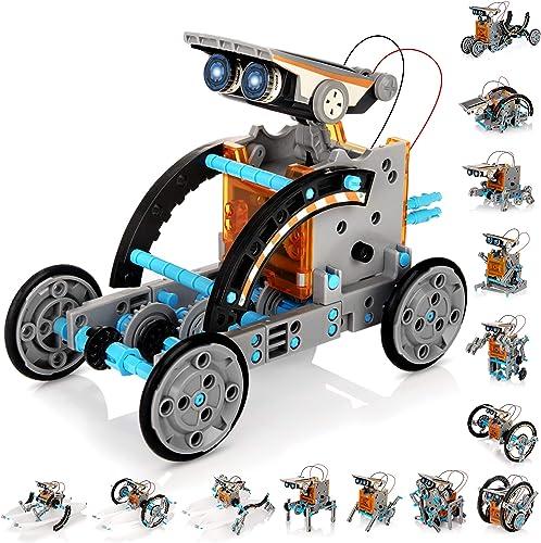 KIDWILL Kit de robot solaire pour enfants, 14 en 1, jouet éducatif scientifique à énergie solaire, kit de constructio...