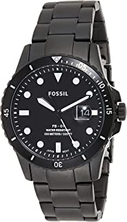Fossil FB-01 Men's Black Dial Silicone Analog Watch - FS5659