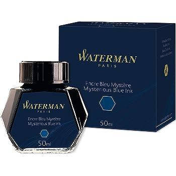 Waterman Fountain Pen Ink, Mysterious Blue, 50ml Bottle