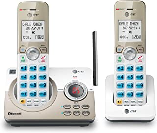 """AT&T DL72219 DECT 6.0 2-Handset Cordless Phone for Home with Connect to Cell, Call Blocking, 1.8"""" Backlit Screen, Big Butt..."""