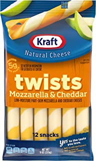 Kraft Mozzarella & Cheddar String Cheese Twists (12 Count)