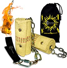 Pro Fire Poi Set - 2x100mm Wicks by Flames N Games + Travel Bag!