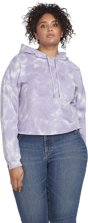 Volcom Women's Clouded Pullover Hooded Fleece Sweatshirt Plus Size